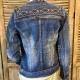 Veste jeans brodée
