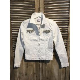 Veste coton blanche Perles/Strass