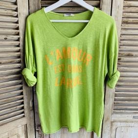 T-Shirt L'AMOUR EST DANS LA RUE  TU du 38 au 44