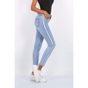 Jeans bande sequin| Toxik3