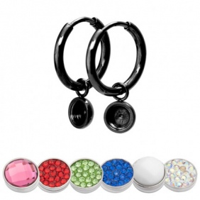 Boucles d'oreilles Créoles iXXXi - Top Part - 15 mm