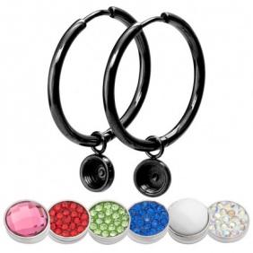 Boucles d'oreilles Créoles iXXXi - Top Part - 24 mm