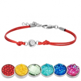 Bracelet iXXXi - Wax Cord - Top Part base - Rouge
