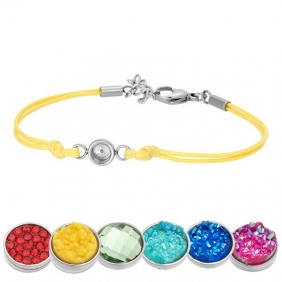 Bracelet iXXXi - Wax Cord - Top Part base - Jaune