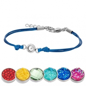 Bracelet iXXXi - Wax Cord - Top Part base - Bleu