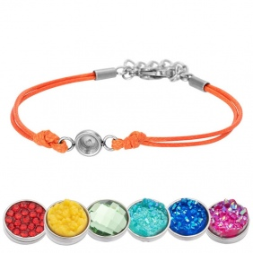Bracelet iXXXi - Wax Cord - Top Part base - Orange