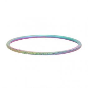 Bague recouvrante  iXXXi - 1 mm - Sandblasted Rainbow