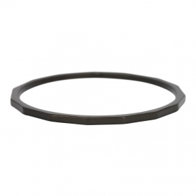 Bague recouvrante  iXXXi - 1 mm - Angular - Noir