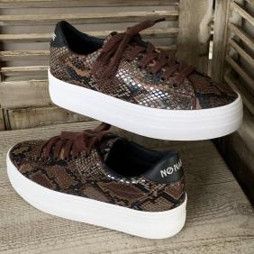 Plato Sneaker - Print Kobra - Brown | NØ NAME