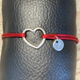 Bracelet NO KISS ! | Coeur - Argenté