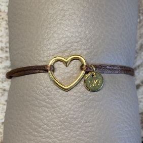 Bracelet NO KISS ! | Coeur - Doré