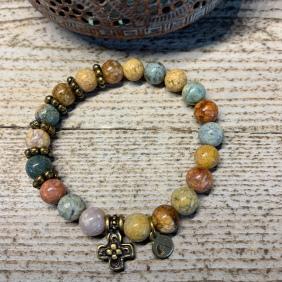 Bracelet Sahel Croix | Avec Un A*