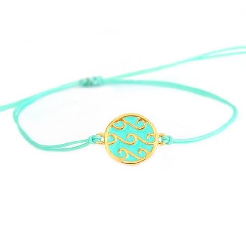 Bracelet Waves Round Turquoise | Love Ibiza
