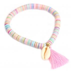 Bracelet Shell Flakes Rose Fluo | Love Ibiza