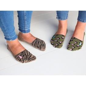 Socks Olive Leopard & Taupe Zebra | Love Ibiza