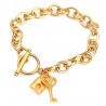 Bracelet Lock and Key Gold | Love Ibiza
