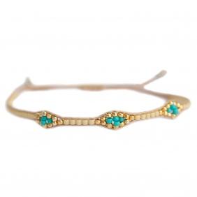 Bracelet Miyuki - Beige | Love Ibiza