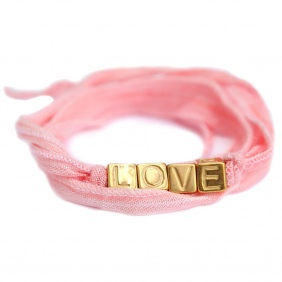 Bracelet Love Wrap - Salmon | Love Ibiza