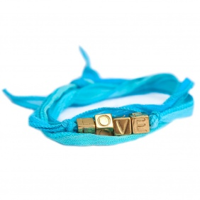 Bracelet Love Wrap - Blue | Love Ibiza