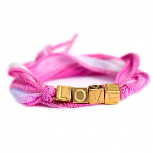 Bracelet Love Wrap - Pink | Love Ibiza