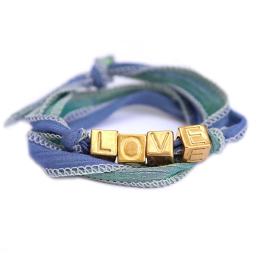 Bracelet Love Wrap - Green blue | Love Ibiza