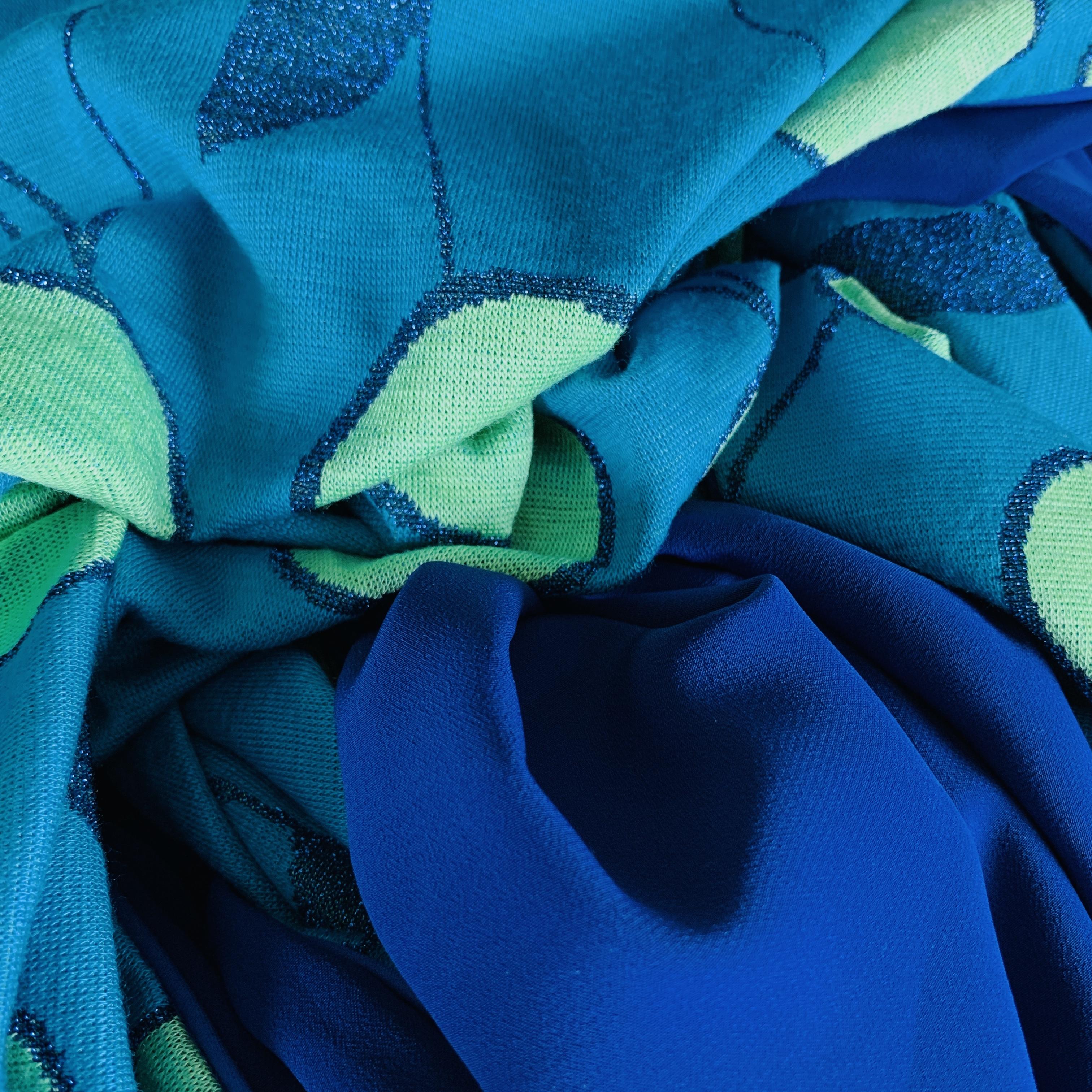 Bleu roi / Turquoise / Vert d'eau