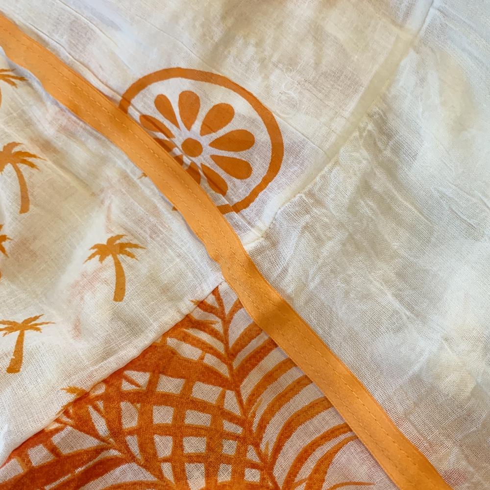 Orange / Blanc